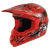 Casco Cross ACERBIS Red Snake