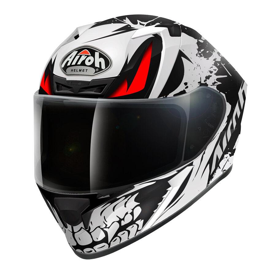 caschi integrali moto  Casco Integrale Airoh Valor Bone (Nero/Bianco) - Caschi | Speedup