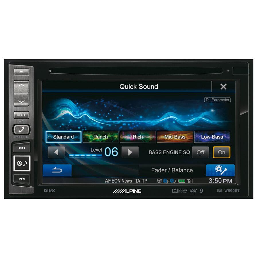 car stereo gps navigatore alpine ine w990bt car stereo speedup. Black Bedroom Furniture Sets. Home Design Ideas