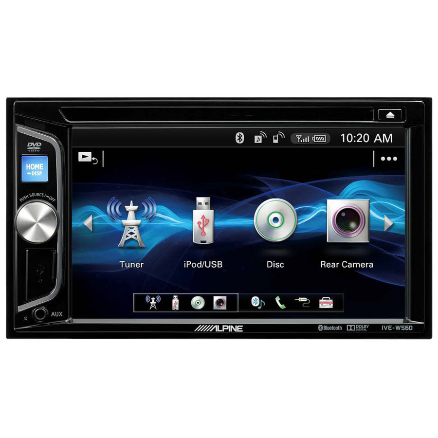 car stereo din doppio alpine ive w560bt r car stereo. Black Bedroom Furniture Sets. Home Design Ideas