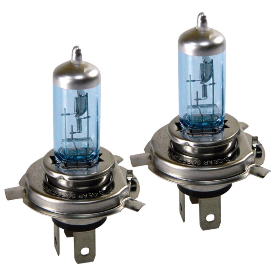 Lampadine h4 d gear h4 super blue lampadine for Lampadine alogene
