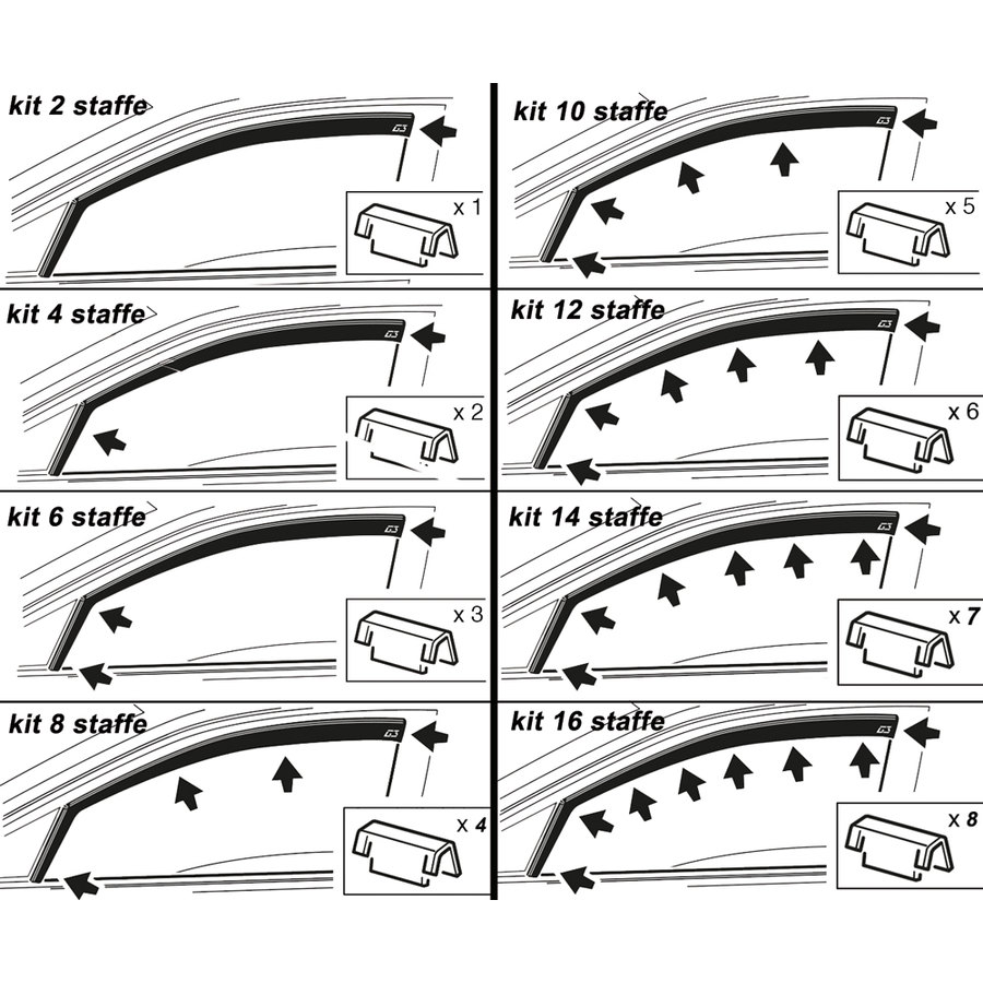 Deflettore aria - pioggia G3 - Deflettori | Speedup