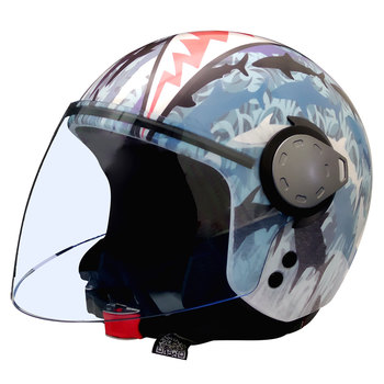 Casco bambino Jet GREX BY NOLAN Jaw Artwork