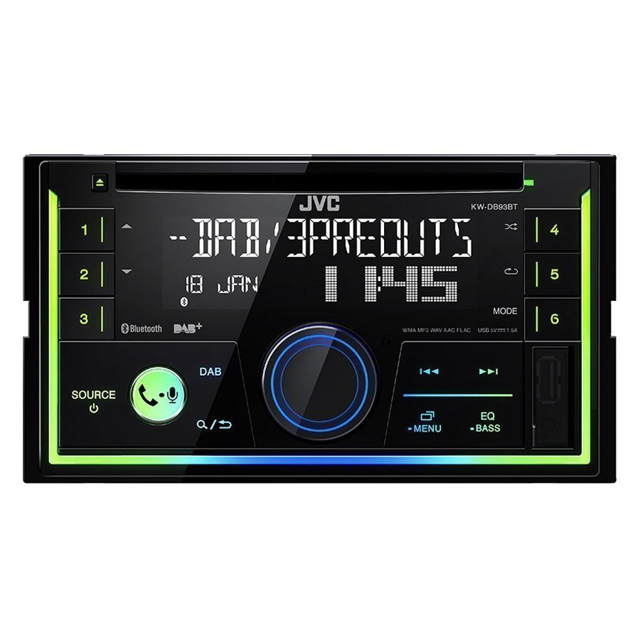 car stereo din doppio jvc kw db93bt car stereo speedup. Black Bedroom Furniture Sets. Home Design Ideas