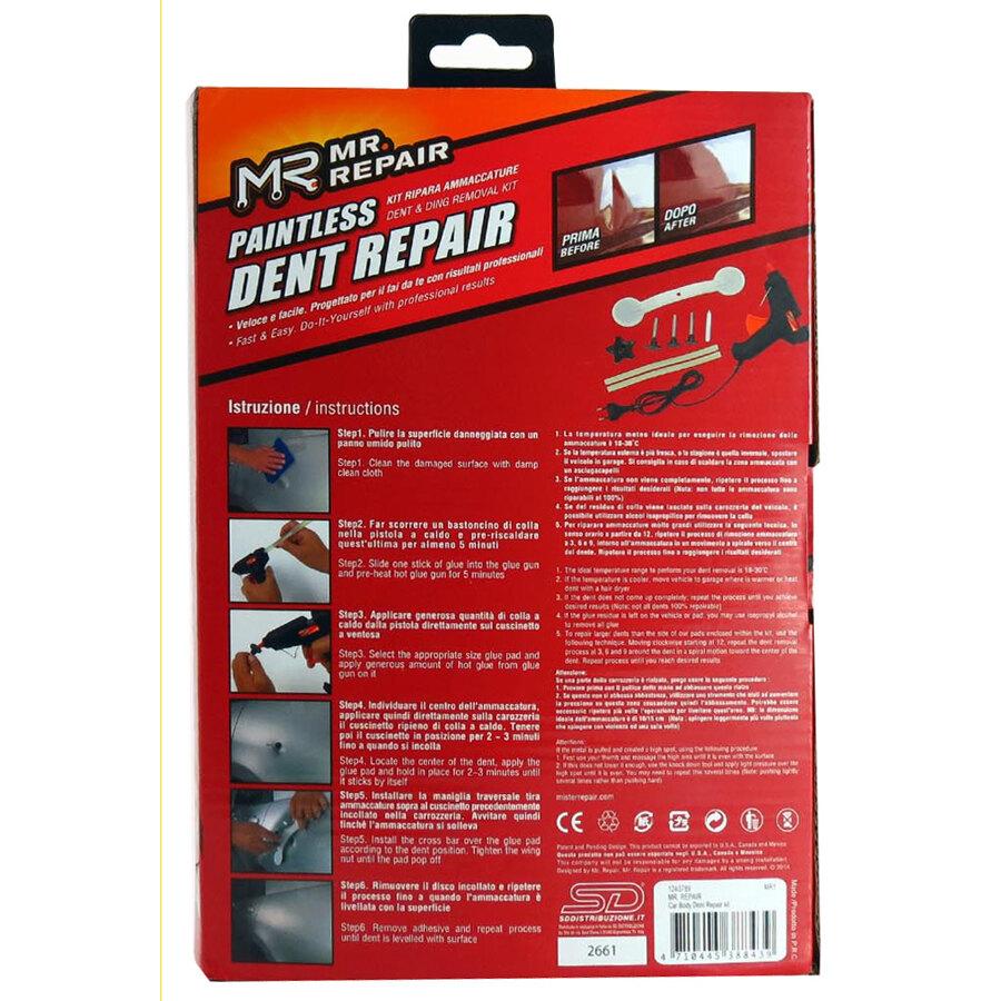 kit riparazione carrozzeria mr repair paintless dent. Black Bedroom Furniture Sets. Home Design Ideas