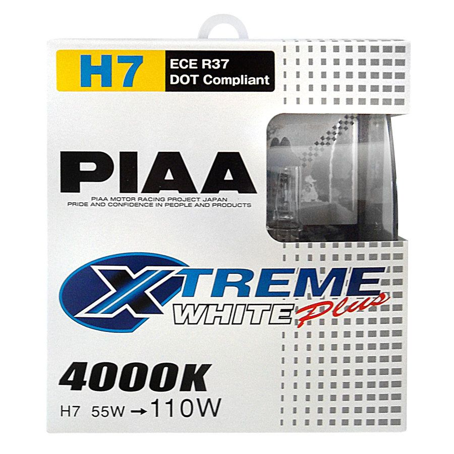 Lampadine h7 xenon piaa xtreme white plus 12v 55 110w auto for Lampadine h7 led