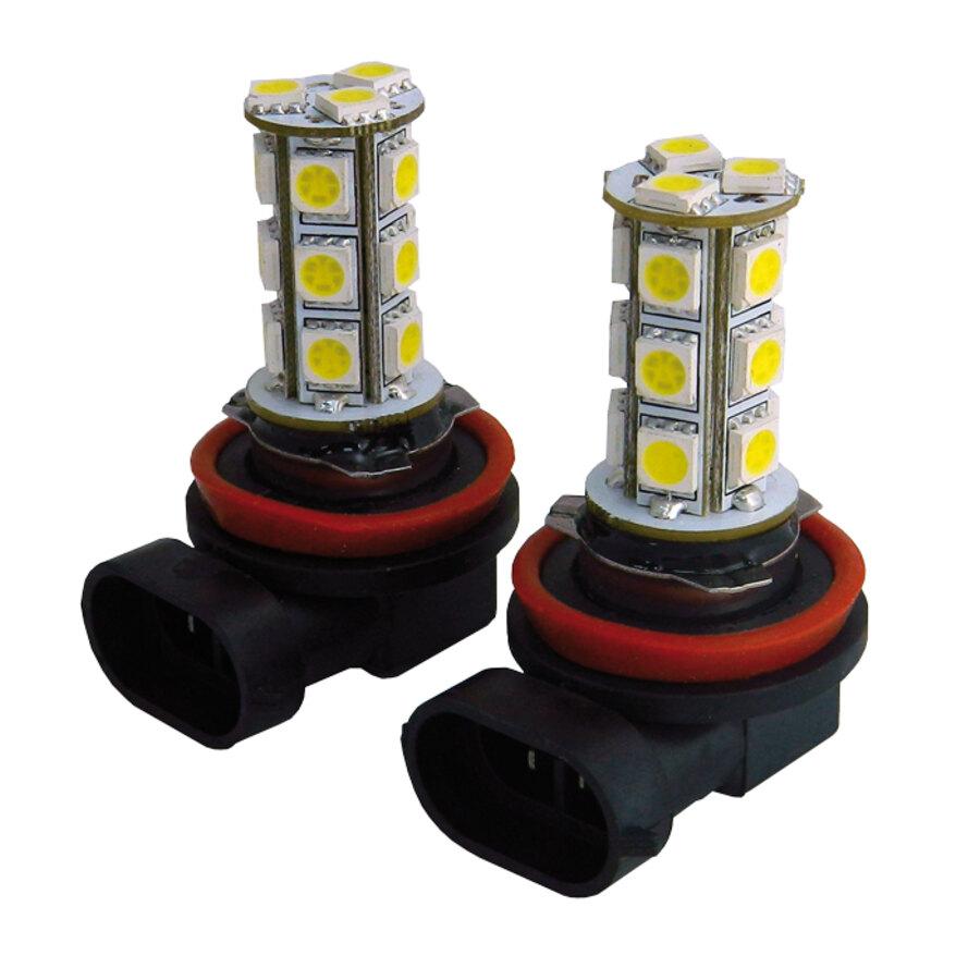 Lampadine h11 tuning guru 18 smd led foglight bulbs for Lampada a lampadina