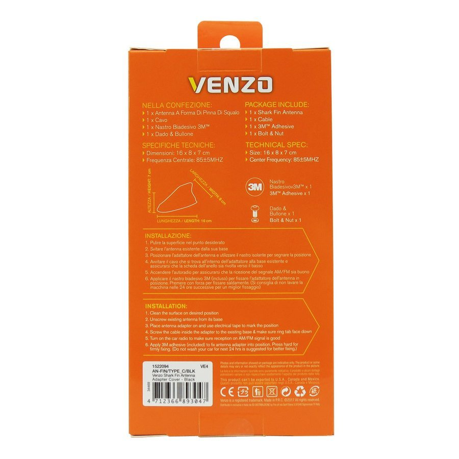 Antenne pinna amplificate Venzo Cover
